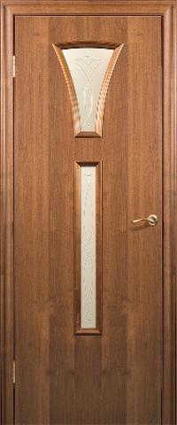 Дверь ДО 204 (тёмный орех, остекленная CPL), фабрика Краснодеревщик