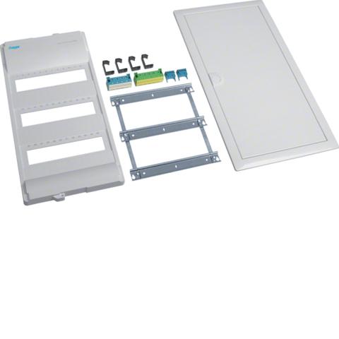 Съемный пакет,Volta,комплект щитка без основания, 3-рядного, RAL9010