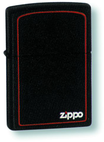 Зажигалка ZIPPO Classic Satin Chrome™ Красная окантовка и логотип Zippo ZP-218ZB