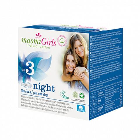 Прокладки ночные с крылышками, для девочек-подростков (Masmi)