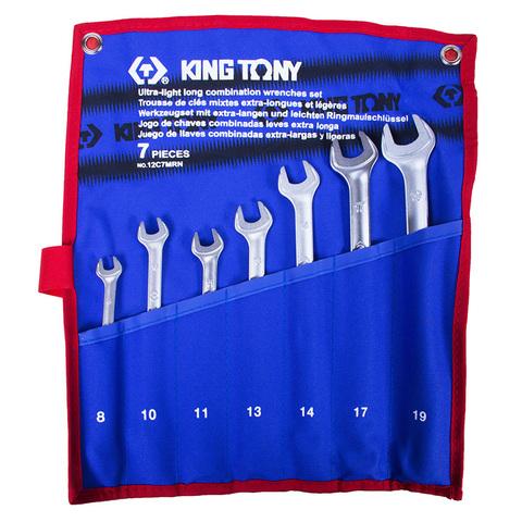 Набор комбинированных удлиненных ключей, 8-19 мм, 7 предметов KING TONY 12C7MRN