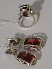 Витраж (кольцо + серьги из серебра)