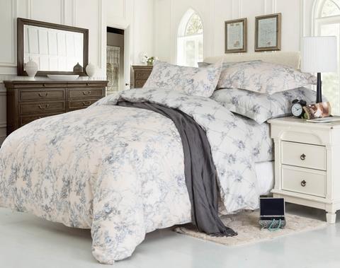 Сатиновое постельное бельё  2 спальное  В-177