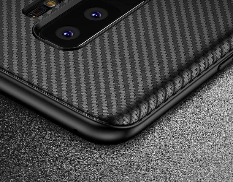 Ультра тонкий чехол на Samsung Galaxy S9 под карбон, серии Fit от Caseport