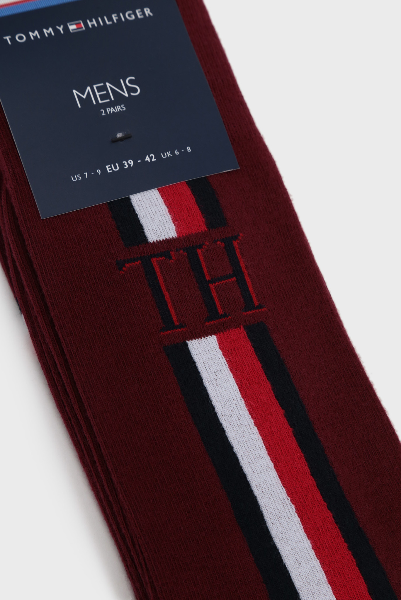 Мужские бордовые носки Tommy Hilfiger