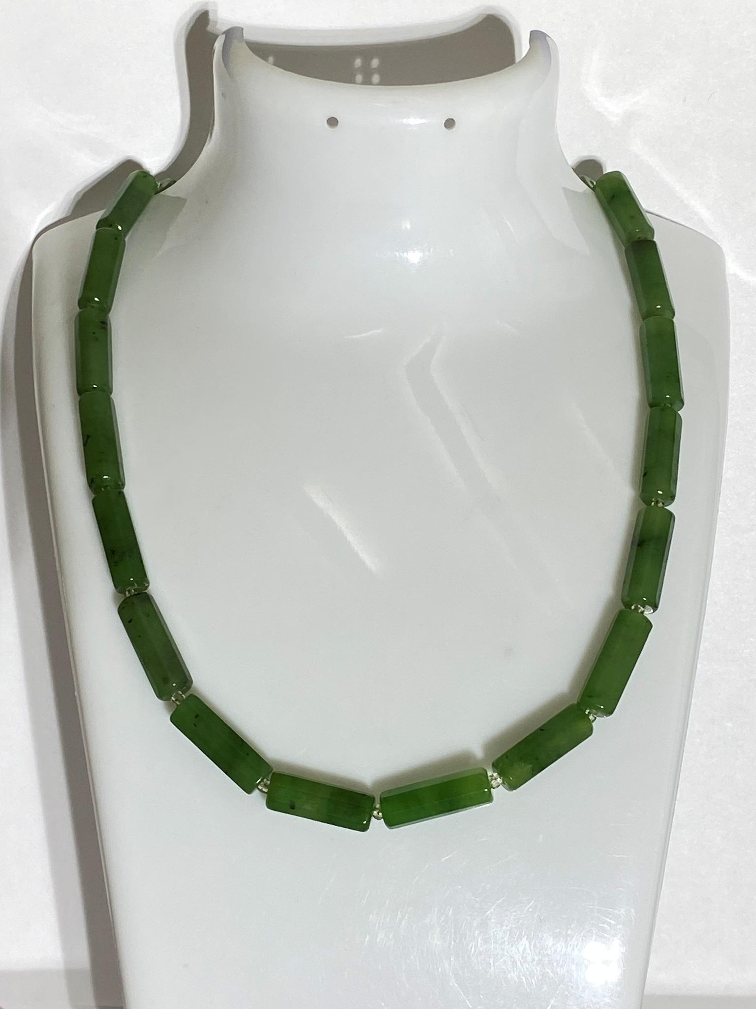 Нефрит 1,5 (бусы из натуральных камней)