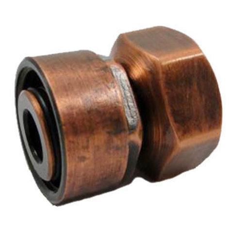 Резьбовое соединение для стальных труб античная медь GW M22x1,5 x GW 1/2