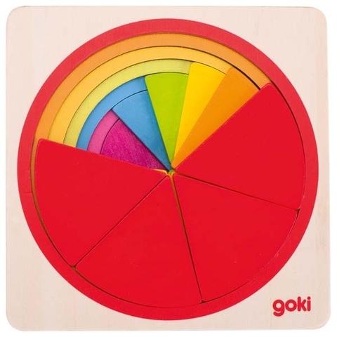 Пазл «Цветной круг»