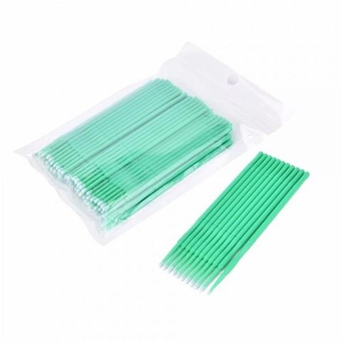 Щеточки для коррекции ресниц Микробраши зеленые в пакете 100 шт.