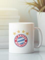 Кружка с изображением FC Bayern München (ФК Бавария) белая 003
