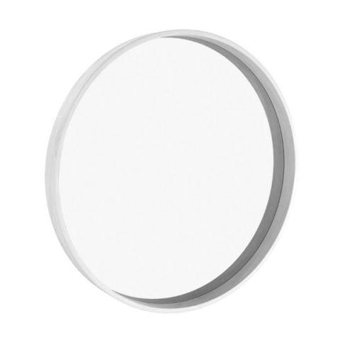 Зеркало круглое Иконс 90 (белый дуб)