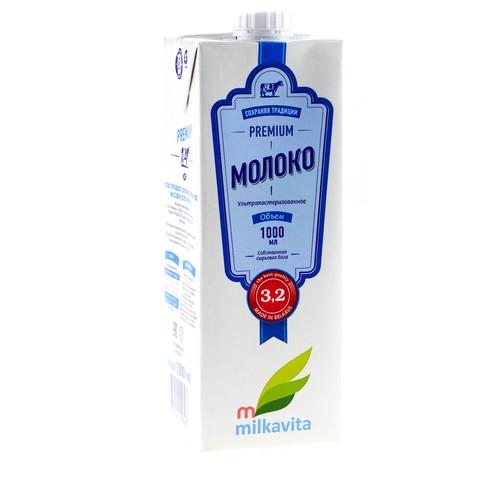 Молоко Милкавита 3.2% стерилка ИП