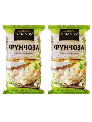 Лапша Фунчоза Sen Soy Premium 2 штуки по 180 гр 1кор*1бл*2шт