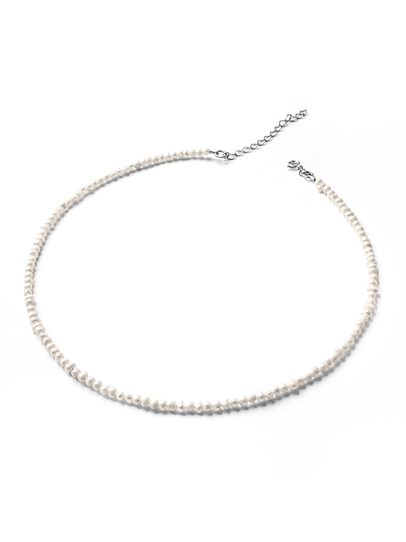 Серебряное колье-чокер с культивированным жемчугом