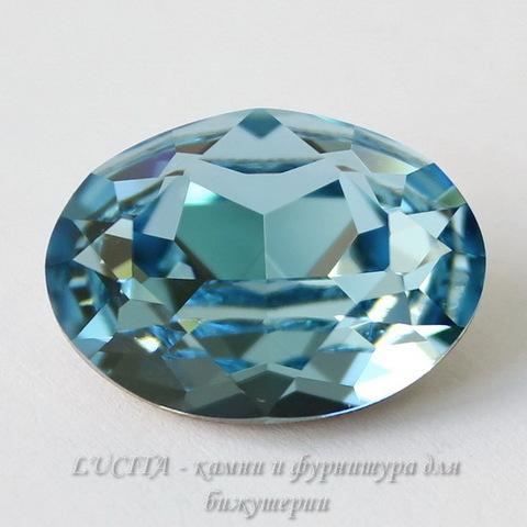 4120 Ювелирные стразы Сваровски Aquamarine (18х13 мм)