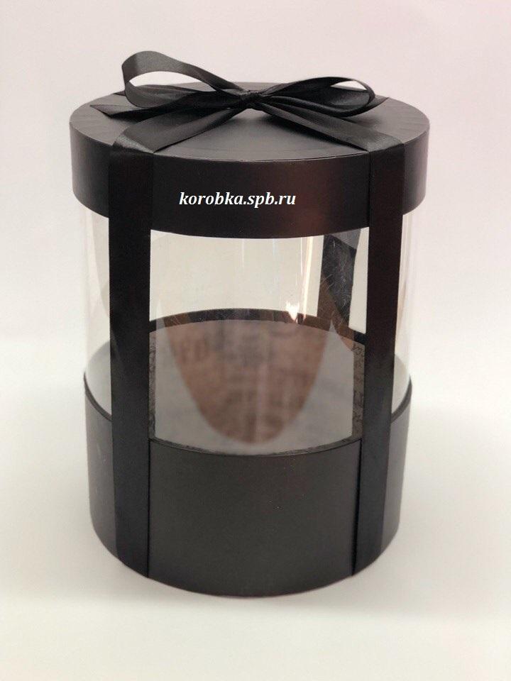 Коробка аквариум 20 см Цвет : Черный  . Розница 400 рублей .