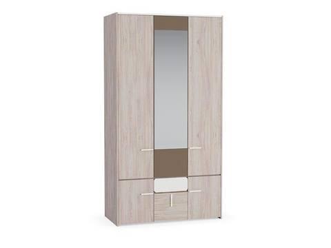 Шкаф для одежды Элен 300 Моби ясень шимо светлый/латте/белый