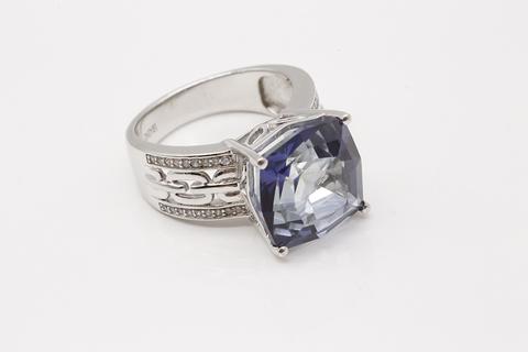 Кольцо из серебра 925 пробы с мистик аметистом Fab016R-4228MI