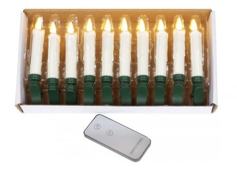 Свеча на батарейках с пультом тепло-белая с эффектом мерцания зажим для регулирования LED