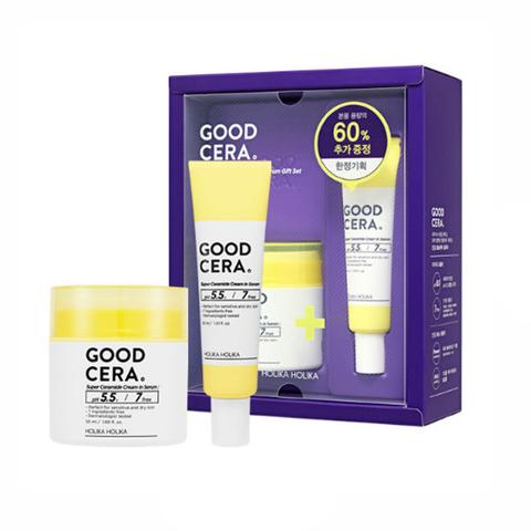 Holika Holika Набор миниатюр крема-сыворотки Good Cera Super Ceramide Cream In Serum крем для лица, 50 мл + 30 мл
