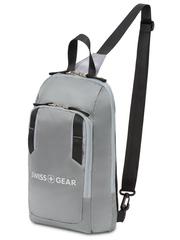 Рюкзак Swissgear с одним плечевым ремнем, серый, 18x5x33 см, 4 л