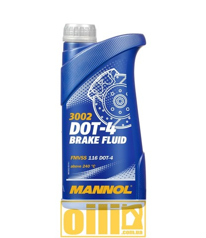 Mannol 3002 Brake Fluid DOT-4 0,5л