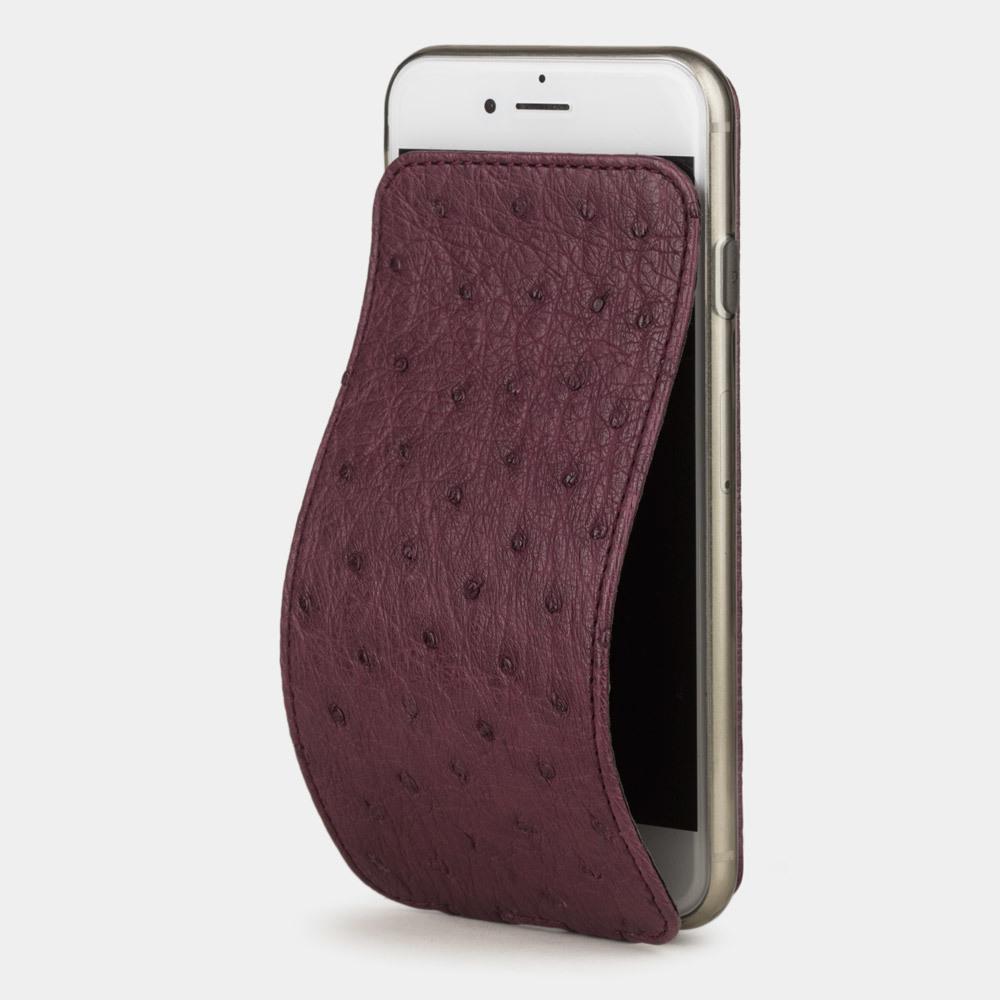 Чехол для iPhone 7 из натуральной кожи страуса, цвета баклажан