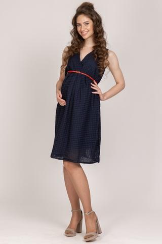 Платье для беременных 10707 синий