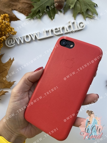 Чехол iPhone 7 Leather Case /red/