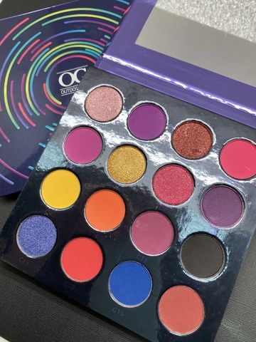 OG-DE7203 PRO PIGMENT PALETTE 1 Палетка пигментов 16 цветов для век (оттенки C1-C16)
