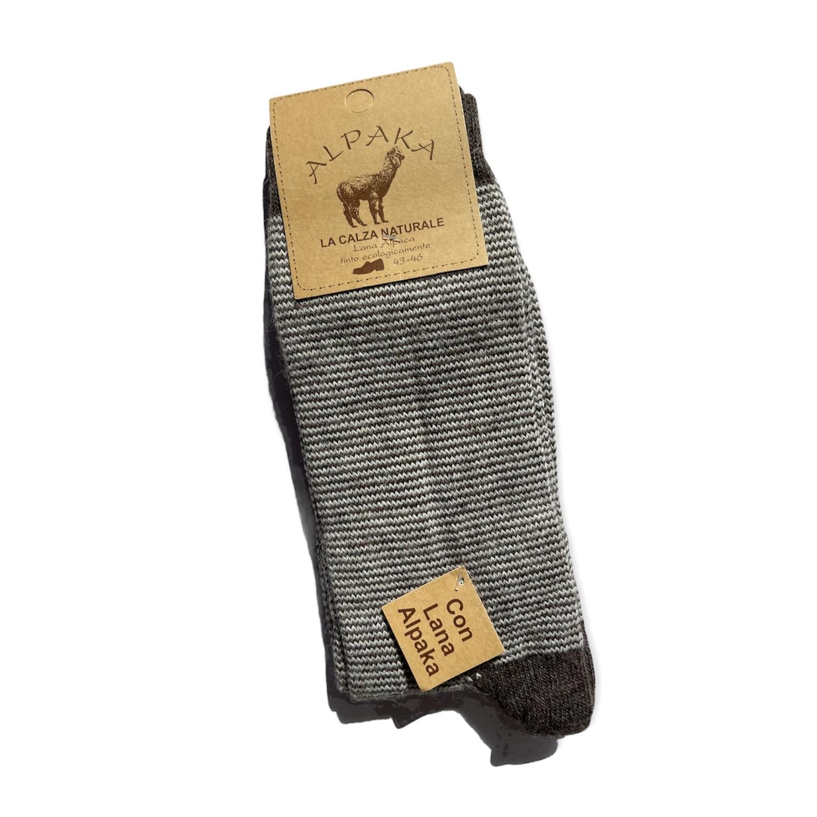 Носки мужские 100% шерсть, коричневый , Италия