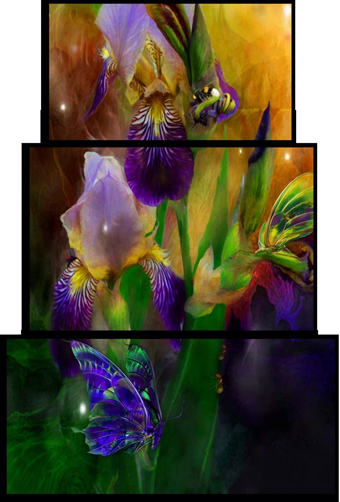 "Цветы Модульная картина ""Ирисы"" М741.png"