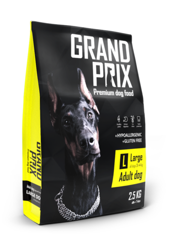 Grand Prix Large Adult сухой корм для взрослых собак крупных пород (с курицей) 2,5кг