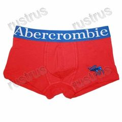Мужские трусы боксеры красные Abercrombie&Fitch