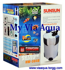 Внешний фильтр SunSun HW-304B с UV-9W