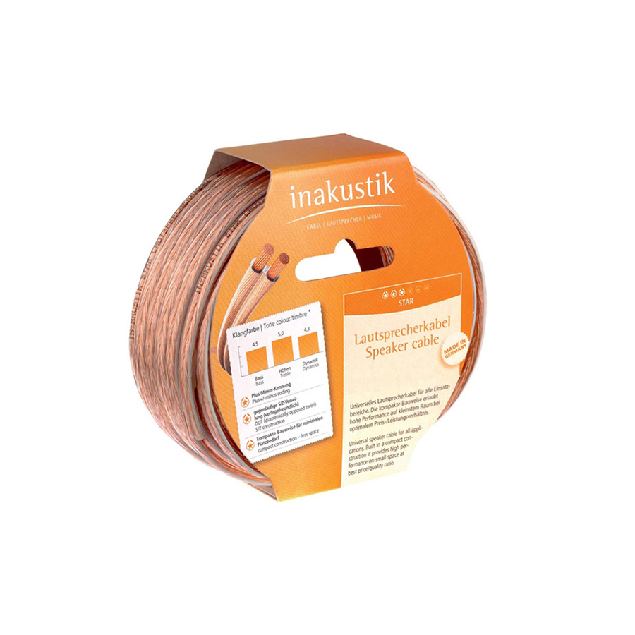 Inakustik Star LS cable, 2 x 0.75 mm2, 400 m, 003020