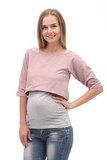 Двойка для беременных и кормящих 09974 розовый-серый