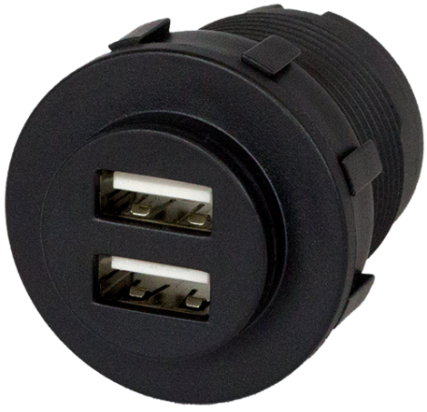 USB SOCKET BLACK 5A