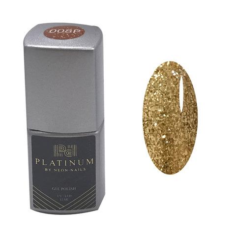 PLATINUM, гель-лак Roxstar#4  № 008P , ( 12 ml)  жидкая фольга оранжевого цвета