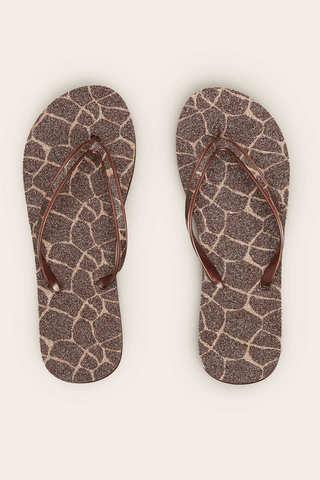 Гумові шльопанці з принтом «Жираф»