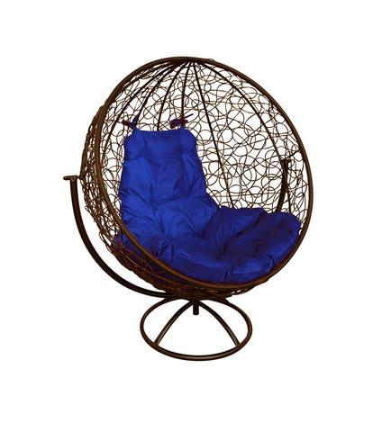 Кресло вращающееся Milagro brown/blue