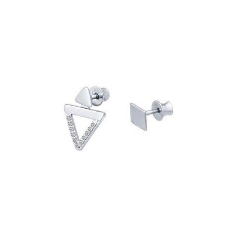 94022198 - Серьги-пусеты из серебра ассиметричные