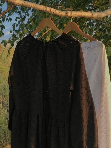 Платье-шитье миди черное