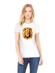Футболка с принтом Лев (Lion) белая w003