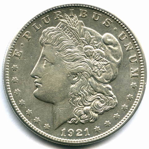 1 доллар 1921. (S) США XF+ (Морган)
