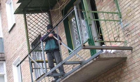 Ремонт и восстановление балконной плиты металлическим усилением