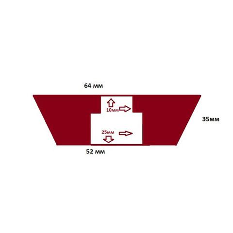 Пробка силиконовая №11 64х52/35 с каналом