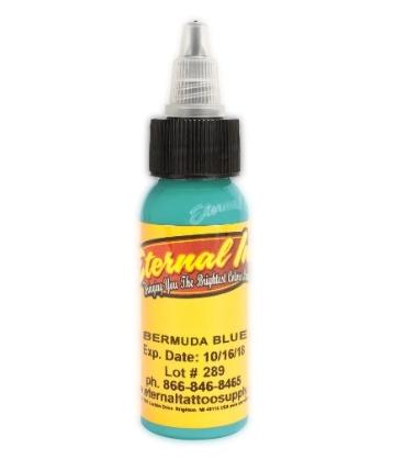 "Краска Eternal ""Bermuda Blue"" для татуировки 1/2 унции - 15 мл"