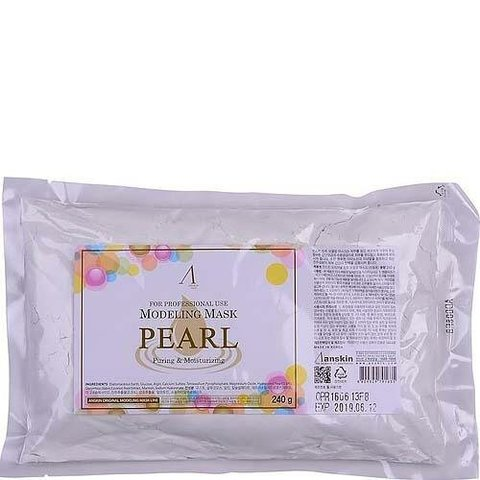 Anskin Pearl Modeling Mask маска альгинатная с экстрактом жемчуга осветляющая (пакет)