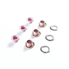 Люверсы металлические 5мм розовые (цветная эмаль)